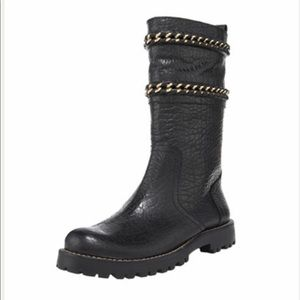 Tory Burch Connell Moto boots.